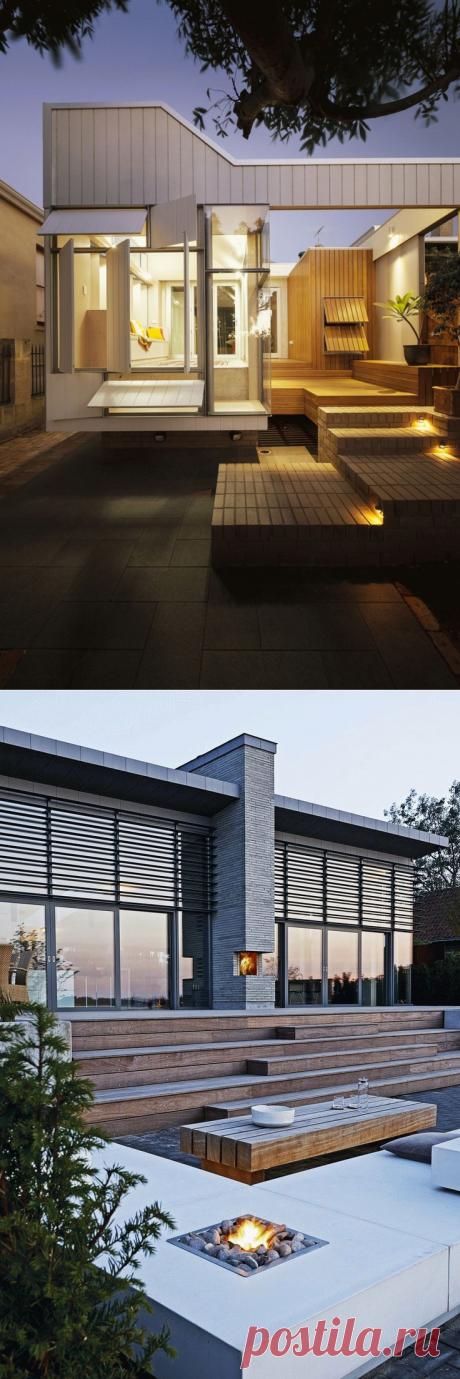 Стильное оформление крыльца загородного дома | Наши дома