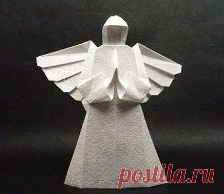 Бумажный ангел в технике оригами — Поделки с детьми