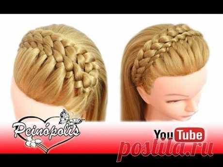 Peinados Faciles y Rapidos y Bonitos con Trenzas Diadema para Graduacion - Fiesta - Niña - YouTube