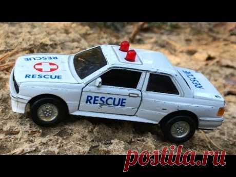 Rescue toy car in forest. BMW car for kids. Playing with toy BMW car - YouTube