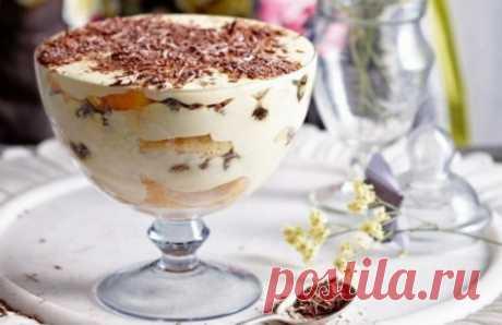 Вы больше никогда не будете печь торты: Самый вкусный десерт «ТИРАМИСУ»… Ела бы и ела столовыми ложками!  ИНГРЕДИЕНТЫ:   200 гр. любого песочного печенья  200 гр. нежирного творога  100 гр. сметаны  50 гр. сахара  1 ч. л кофе  ваниль  какао  Десерт Тирамису     ПРИГОТОВЛЕНИЕ:   Смешать в блендере творог, сметану, сахар и ваниль до однородной мас
