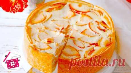 Вместо надоевшей шарлотки в нашей семье готовят этот нежный яблочный пирог. Мало теста, много начинки. Делюсь рецептом Распечатать рецепт с фото можно на нашем сайте Готовим дома https://gotovim-doma.ru/recipe/804-tsvetaevskii-yablochnyi-pirog