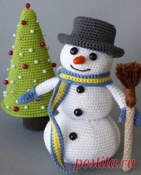 Вязаный Снеговик своими руками. Схемы, идеи и описание