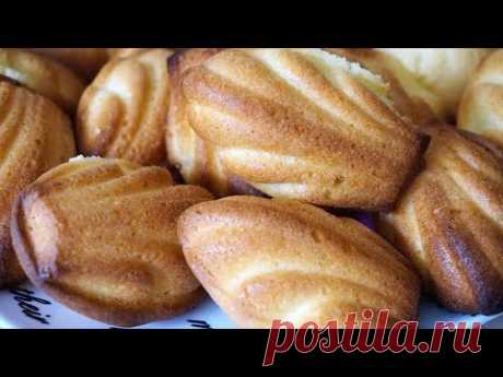 MADELEINE biscuit French cookies \/ Madeleine (cake)