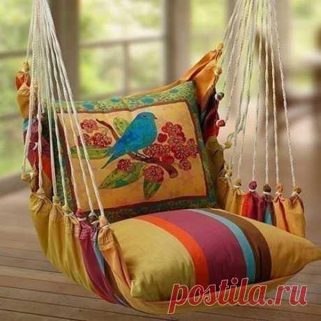 Кресло-качели для любителей уюта