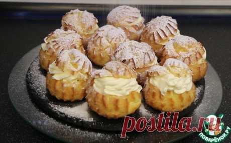 Заварные пирожные с кремом - нежное тесто, ароматный, ванильный крем и тонкие нотки соленой карамели!!!