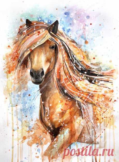 Лошади в акварельных рисунках Елены Швец Изумительные изображения лошадей Елены Швед, молодой художницы из г. Тольятти, пишущей в технике гранж-арт. Кисточку и акварель девушка взялась два года назад, но уже сегодня ее творчество высоко ценя…