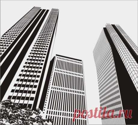 Пескоструйный рисунок мегаполис небоскрёб для  плоттерной резки, дизайнерский шкаф-купе.