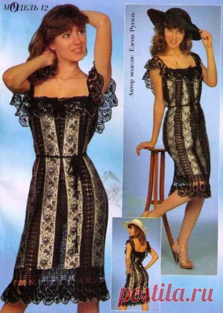 Платье (крючок+ткань)