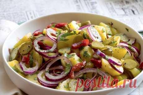Картофельный салат с ароматным маслом | Другая Кухня /Дневник фудблогера | Яндекс Дзен