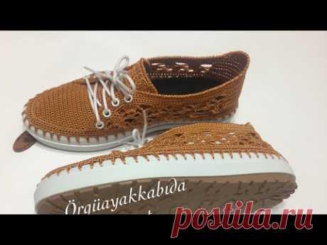 Şık ve Zarif Yazlık Dantel modelli  Ayakkabı Yapımı 2. Bölüm # örgü ayakkabı yapımı # knitting shoes