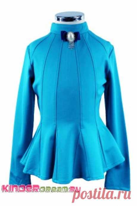 Купить элегантную блузку с баской итальянского бренда Делорас для девочки 29194 - Блузки с длинными рукавами - Детская одежда в Москве