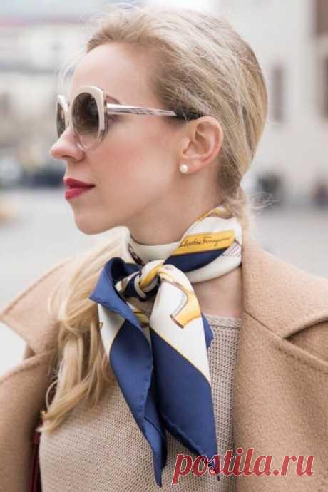 Топ-6 способов носить шелковый платок стильно этой осенью | CLUB-WOMAN: Мода и стиль | Яндекс Дзен