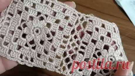 Tığişi Örgü Kare Motif Yapımı, Şal,hırka,battaniye için & Crochet