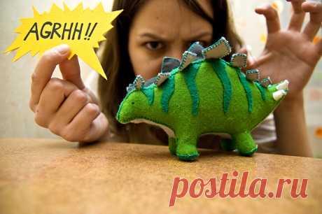 Как сделать своего собственного домашнего динозавра - handmade_ru