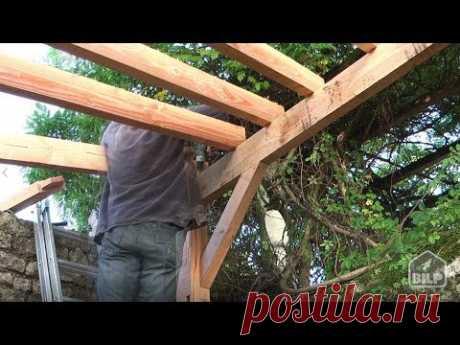 Comment construire un CARPORT en bois - YouTube