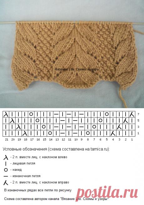 Узор с растительными мотивами – выглядит очень нарядно | Вязание life. Схемы и узоры | Яндекс Дзен