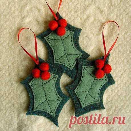 Ideias de enfeites de Natal em Feltro: Moldes | Toda Atual