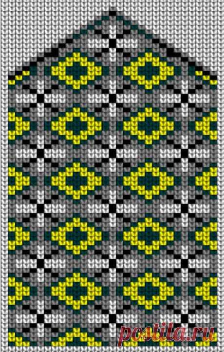 Схемы для вязания варежек с орнаментом