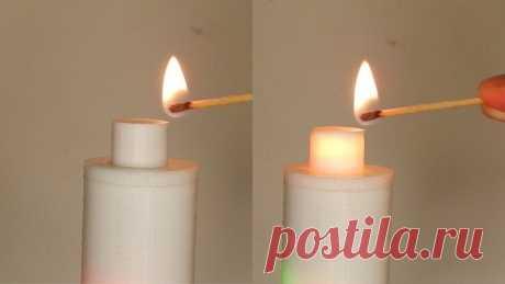 Светодиодная свеча зажигающаяся от спички Из этой статьи мы с вами узнаем, об очень интересной самоделке. Это искусственная свеча, но зажигается она не от кнопки или выключателя, а от поднесенного пламя спички.Если поднести зажженную спичку или зажигалку к верхнему кончику искусственной свечи, светодиодные лампы в верхней части