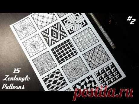 15 Zentangle Patterns #2 | Angga Art Tutorials