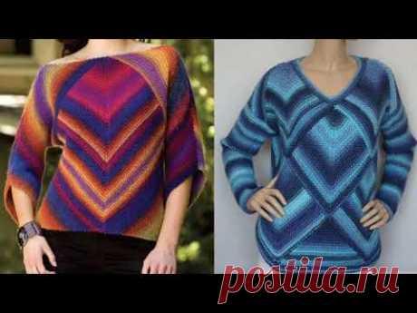 Новый способ вязания свитера. Метод квадрат.