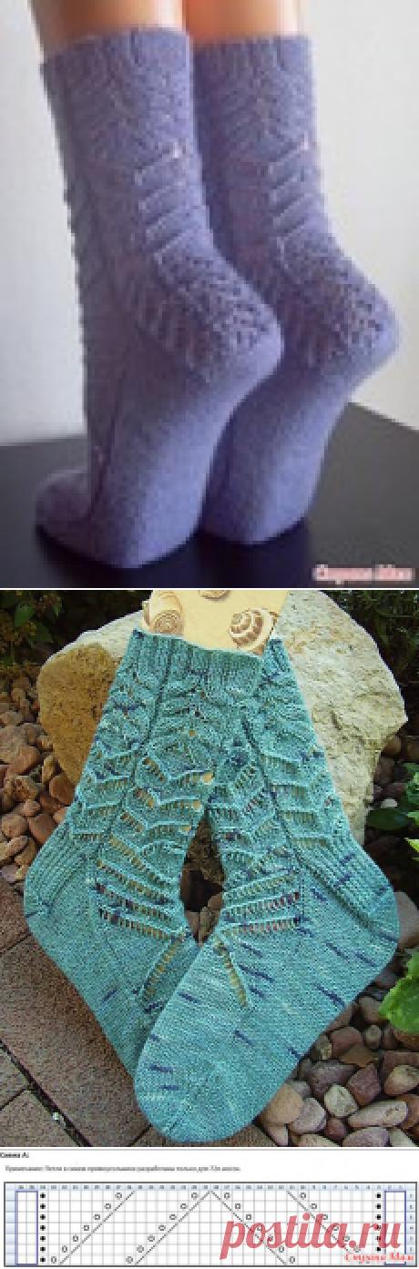 Носочки Ripple Effect дизайнера Jen Lucas