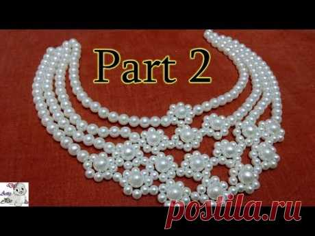 #6 (PART 2) How to Make Pearl Beaded Necklace || Diy || Jewellery Making