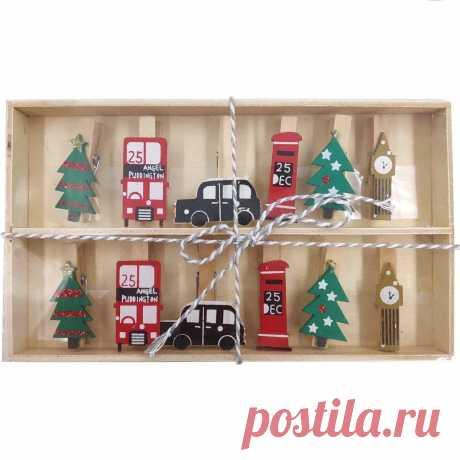 Прищепки для подарков машина, часы купить оптом от 222.8 руб. с доставкой по Москве в «на_полке»