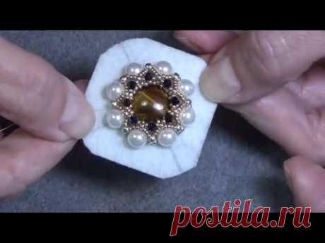 Tutorial: Part, 3D Beaded Embroidery Brooch Pendant Element Maltese Cross