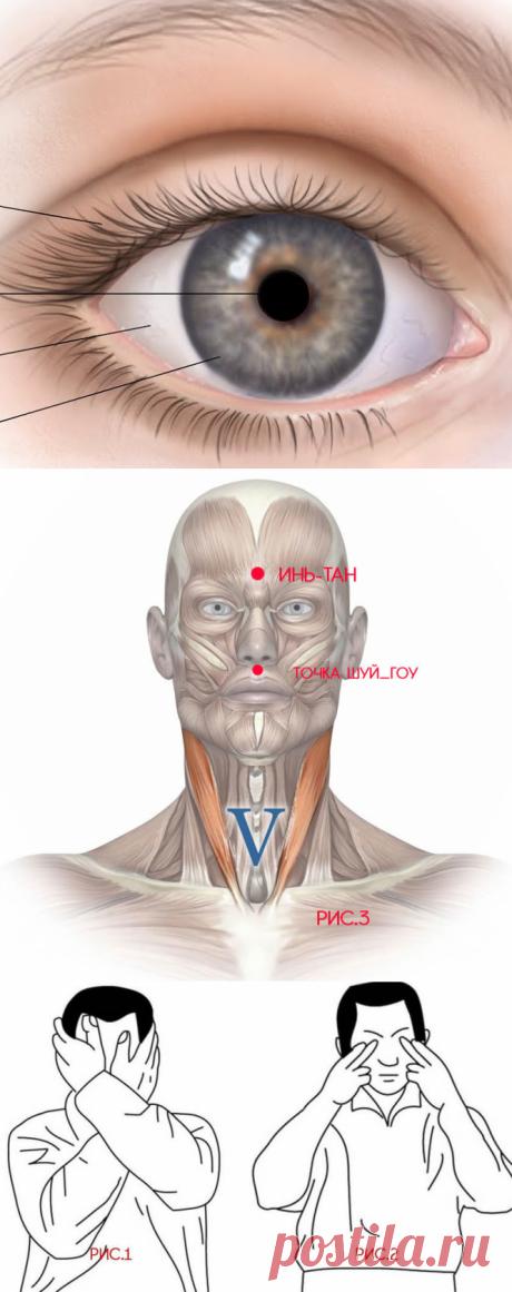 Надавливание на глаза: техника лечения при глаукоме, катаракте и