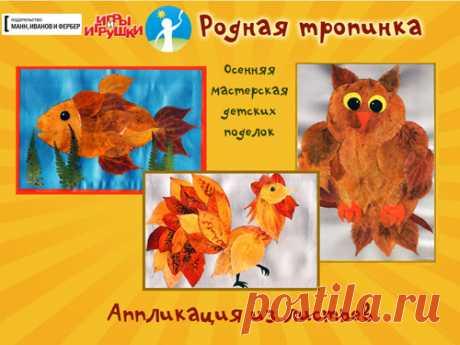 Аппликация из осенних листьев: виды, идеи для детского творчества.