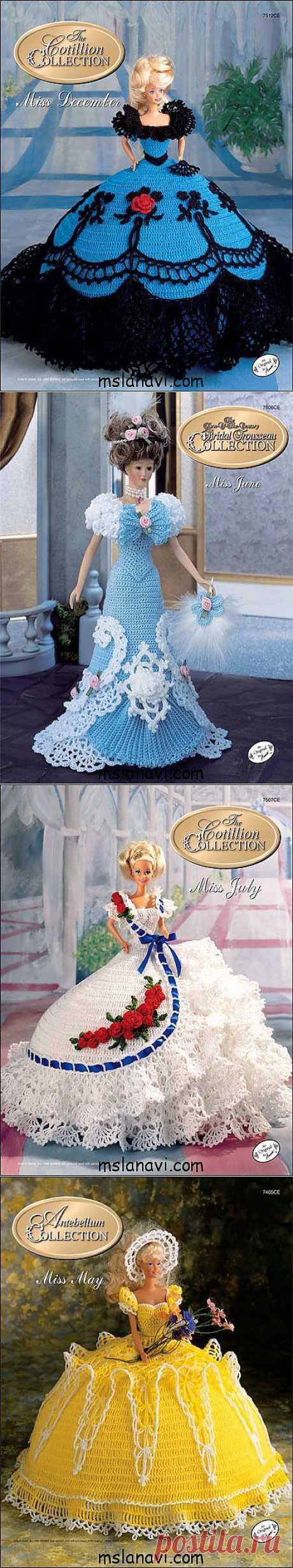 О вязании: Платья для барби крючком от Annie's Society | Вяжем с Ланой