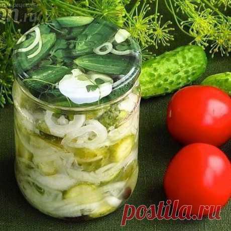 Салат из огурцов с луком в кавказском стиле  Ингредиенты  Огурцы – 2 кг Показать полностью...