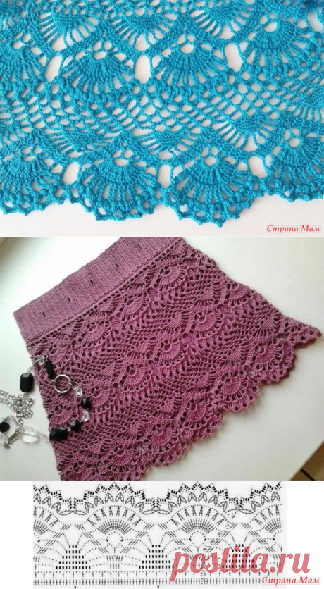 Ажурная юбка - Вязание - Страна Мам