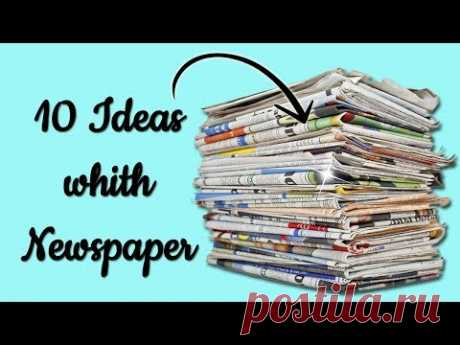 10 Ideas with Newspaper - Ecobrisa DIY
