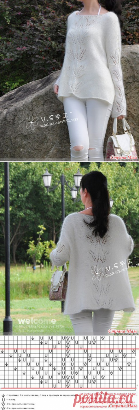 Белая туника по стопам китайских рукодельниц