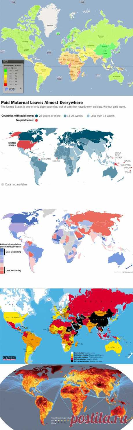 10 карт мира, которые не показывают на уроках географии