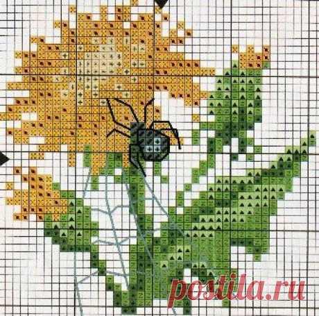 Летний мед одуванчиков - чудесные схемы для вязания и вышивки   Вязалки Веселого Хомяка   Яндекс Дзен