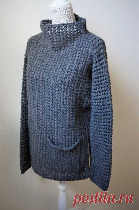 Вязаный крючком пуловер Fullerene - Вяжи.ру