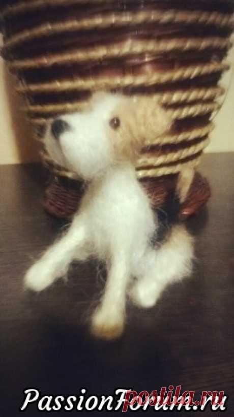 Маленькие собачки крючком. Фото процесса. (каркас, тело, лапы)