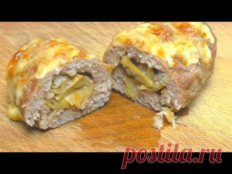 Вкусная альтернатива котлетам. Мясные ЗРАЗЫ с грибами в духовке.
