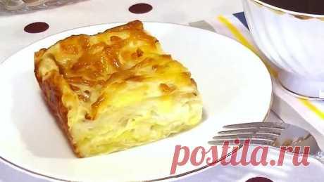 Ленивый сырный пирог за 5 мин