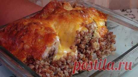 Самая вкусная запеченная курица с гречкой: второе блюдо на обед