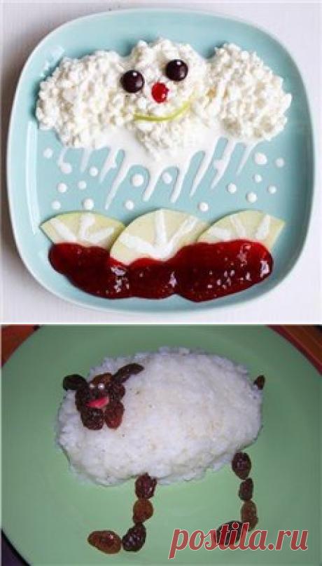 Детское меню. Оригинальные идеи оформления блюд.