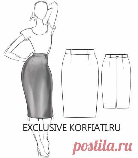 Выкройка юбки для скачивания от Анастасии Корфиати Готовая базовая выкройка юбки для скачивания. Бесплатные выкройки прямой юбки на шесть размеров - с 40 по 50-й! Скачайте выкройку и кроите!