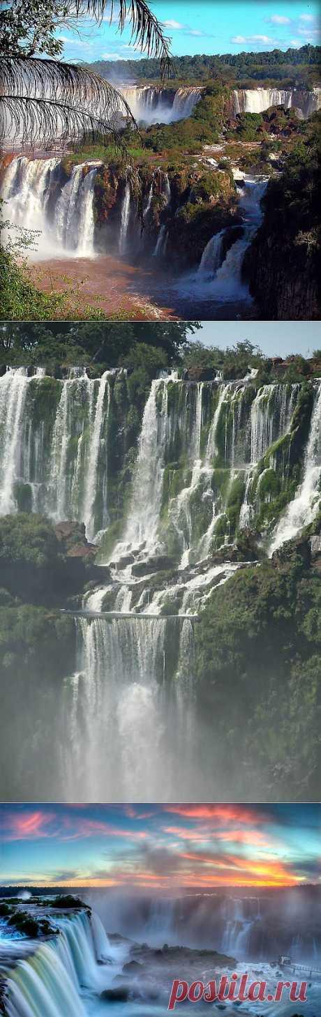 Водопад Игуасу – большая вода на границе двух стран : НОВОСТИ В ФОТОГРАФИЯХ