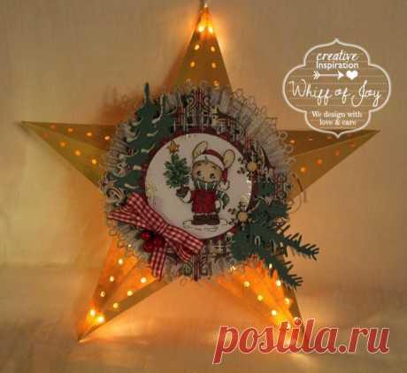 Светящаяся рождественская звезда из картона своими руками.