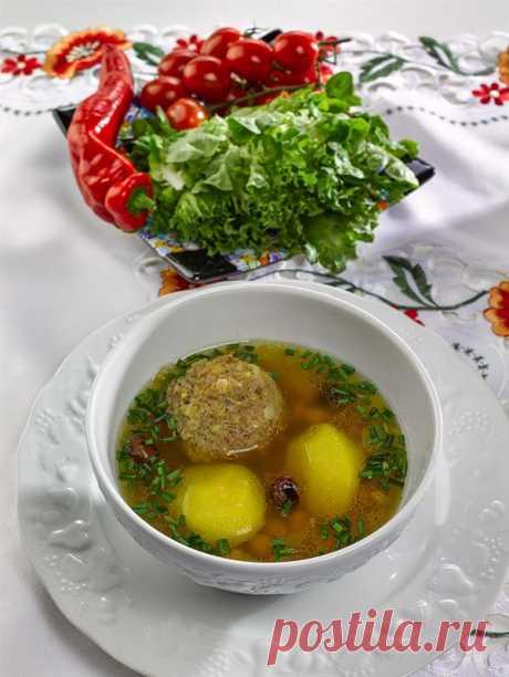 Азербайджанская кухня, рецепт: Суп с тефтелями (кюфта-бозбаш)