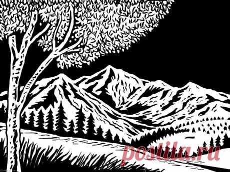 Абстракция black-white ( 16 ) -t - Черного - белые - Плакат На Холсте - Абстракция (AC9EZP) | Печать На Холсте Black - White | ArtsDot.com